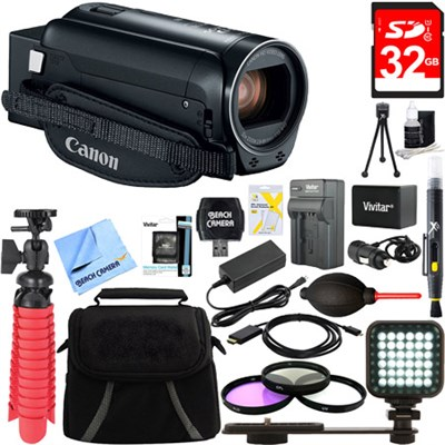 VIXIA HF R82 Black Camcorder 3.8MP Full HD CMOS, 57x Advanced Zoom Bundle