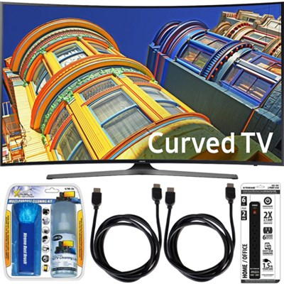UN65KU6500 - Curved 65-Inch 4K Ultra HD LED Smart TV Essential Accessory Bundle