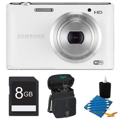 ST150F 16.2 Megapixel Digital Still Camera White 8GB Kit