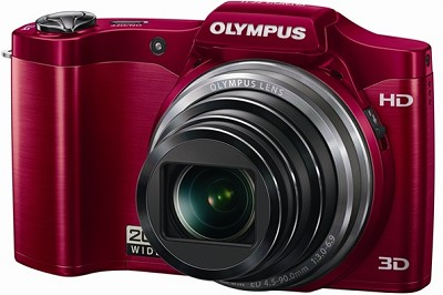 SZ-11 14MP 20x Optical Zoom 3d HD Digital Camera - Red  - OPEN BOX