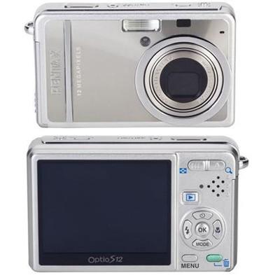 Optio S12 2.5` LCD Monitor, 12 MP Digital Camera (Silver)