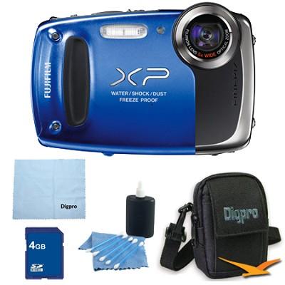 Finepix XP50 14MP CMOS Digital Camera 4 GB Bundle (Blue)