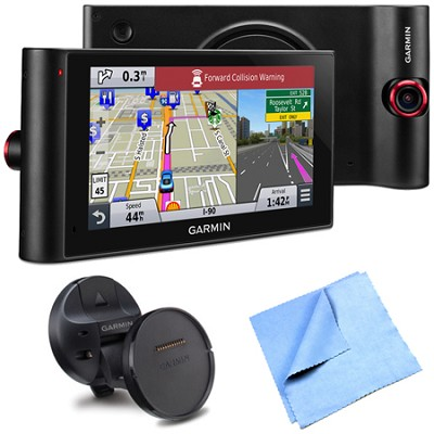 nuviCam LMTHD 6` GPS w/ Built-in Dashcam, Maps, HD Traffic Magnetic Mount Bundle