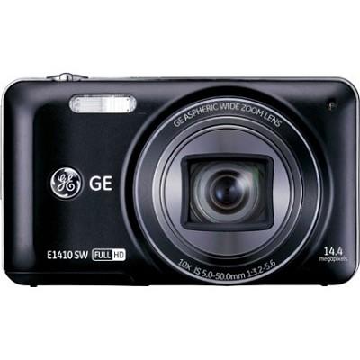 E1410SW-BK Full HD 1080p 10X, 3` LCD 14MP Black Digital Camera with CMOS Tech.
