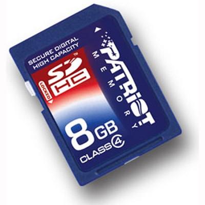 8GB SDHC Class 4 Flash Memory Card (PSF8GSDHC4)