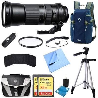 SP 150-600mm F/5-6.3 Di VC USD Zoom Lens for Nikon Bundle