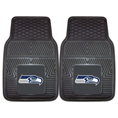 NFL Seattle Seahawks Vinyl Heavy Duty Car Mat - Set of Two