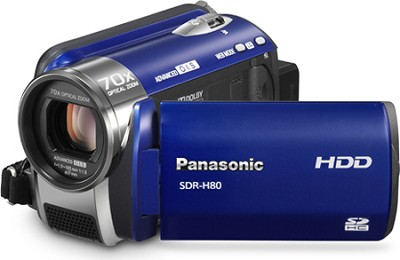 SDR-H80A Camcorder with 70X Zoom & 60GB HDD (Blue)