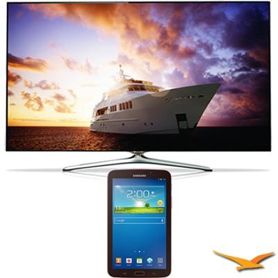 UN60F7500 - 60` 1080p 240hz 3D Smart Wifi LED HDTV - 7-Inch Galaxy Tab 3 Bundle