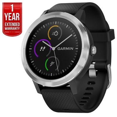 Vivoactive 3 GPS Fitness Smartwatch (Black & Stainless) + Extended Warranty