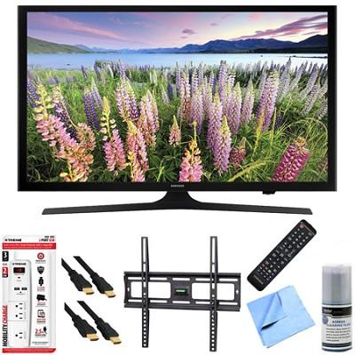 UN43J5200 - 43-Inch Full HD 1080p Smart LED HDTV Mount & Hook-Up Bundle