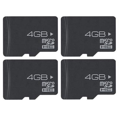 4 GB High-Speed MicroSD Memory Card- 4 Pack