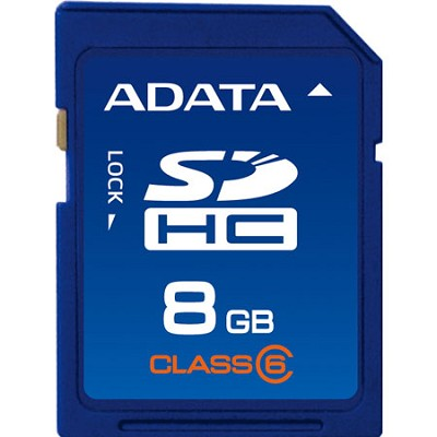 8 GB Secure Digital High-Capacity (SDHC) Class 6 Turbo Series ASDH8GCL6-R