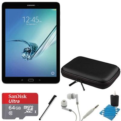 Galaxy Tab S2 9.7-inch Wi-Fi Tablet (Black/32GB) 64GB MicroSD Card Bundle