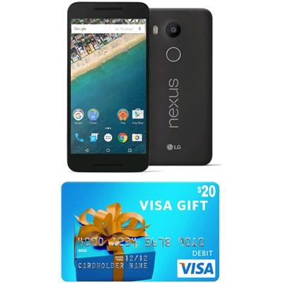 H790 Google Nexus 5X 16GB Unlocked Smartphone - Carbon (Gift Card Promo Expired)
