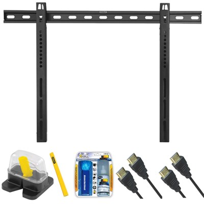 Large Fixed TV Mount & Set Up Kit for 40` -65` TVs up to 110LB - TLS-210S