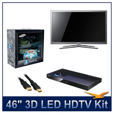 UN46C8000 - 46` 3D 1080p 240Hz LED HDTV Kit w/ 3D Glasses & Blu-Ray Player