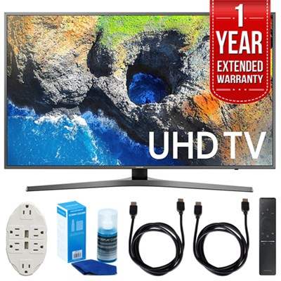 54.6` 4K Ultra HD Smart LED TV (2017 Model) w/ Extended Warranty Bundle