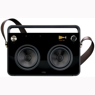 Life on Record 2-Speaker Boombox Audio System (TP6802BLK)