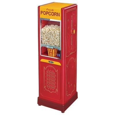 Freestanding Hot Air Popcorn Dispenser in Red - 60009