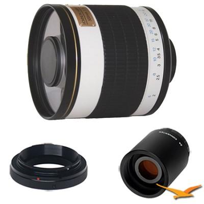 ED500M - 500mm f/6.3 Multi-Coated ED Mirror Lens for Samsung NX w/ 2x Multiplier