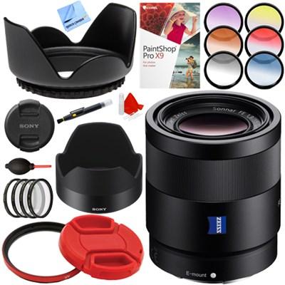Sonnar T* FE 55mm F1.8 ZA Full Frame Camera E-Mount Lens Bundle