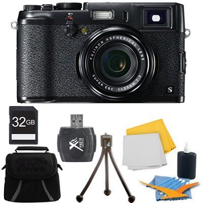 X100S 16MP Full HD 1080p Video Digital Camera 32GB Black Kit