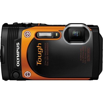 TG-860 Tough Waterproof 16MP Digital Camera with 3-Inch LCD - Orange