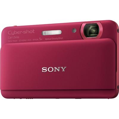 Cyber-shot DSC-TX55 Red Slim Digital Camera w/ 3.3` OLED Touchscreen