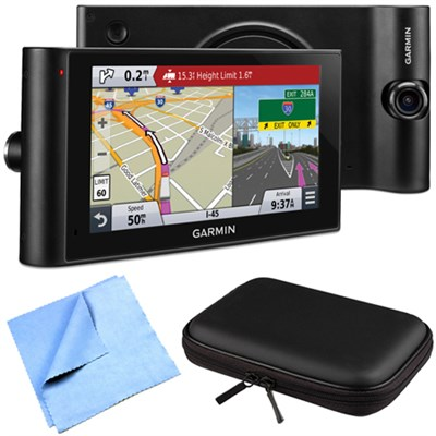 dezlCam LMTHD 6` GPS Truck Navigator w/ Dash Cam Hardshell Case Bundle