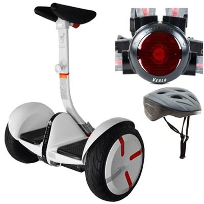 miniPRO Smart Self Balancing Personal Transporter White w/ Protective Kit