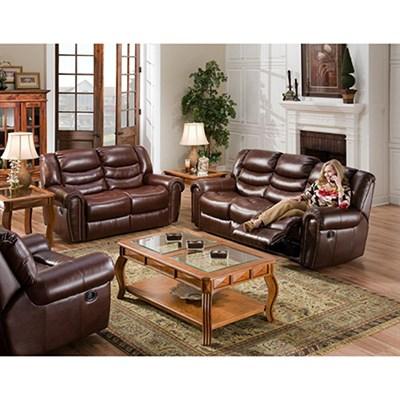 Lancaster 3-Piece Living Room Set: Sofa Loveseat Recliner - 98502A3PC-BU