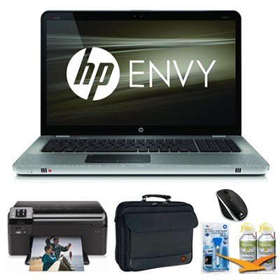 ENVY 17.3` 17-1190NR Grey Notebook Essentials and Optical Drive Bundle