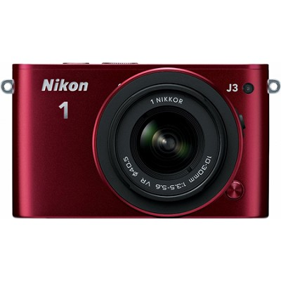 1 J3 14.2MP Red Digital Camera with 10-30mm VR Lens