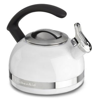 2.0-Quart Kettle with C Handle and Trim Band in White - KTEN20CBWH