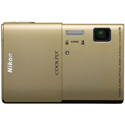 COOLPIX S100 16MP Gold Compact Digital Camera w/ 3.5` Touch Screen Refurbished