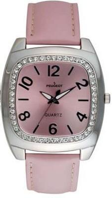 310PK Ladies Crystal Leather Watch