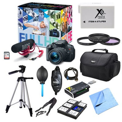 EOS Rebel T5i and Lens Video Creator, Filters, and Battery Bundle