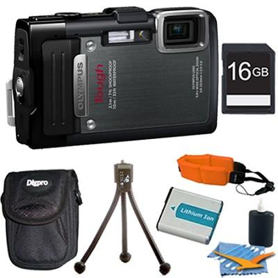 TG-830 iHS STYLUS Tough 16 MP 1080p HD Digital Camera Black 16GB Kit