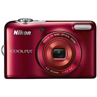 COOLPIX L30 20.1MP 5x Zoom HD Video Digital Camera Red (Certified Refurbished)