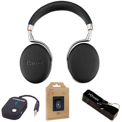 Zik 3 Wireless Noise Cancelling Bluetooth Headphones (Black) Mobile Bundle