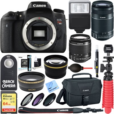 EOS Rebel T6s DSLR Camera with EF-S 18-55mm & 55-250mm IS Lens + Accessory Kit