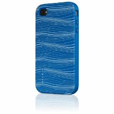 F8Z627tt161 - Grip Graphix Silicone Sleeve for iPhone (Vivid Blue/Clear)