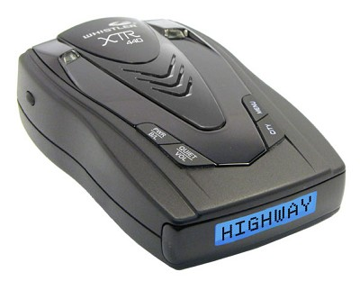 NEW XTR-440 Laser/Radar Detector Cordless Battery and Charger& Blue Text Display
