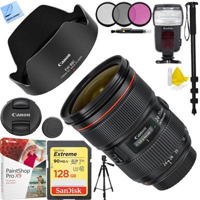 EF 24-70mm f/2.8L II USM Lens with Sandisk 128GB Bundle