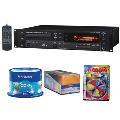 Professional CD Recorder CD-RW901MKII with CD-R Bundle
