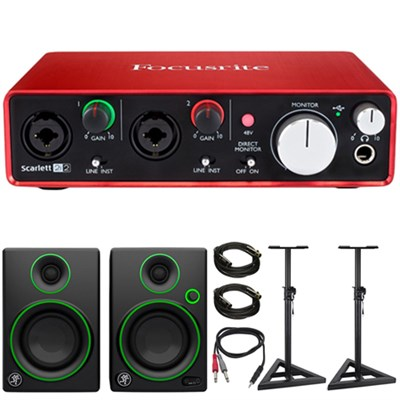 Scarlett 2i2 USB Audio Interface (2nd Gen) w/ Speaker Bundle