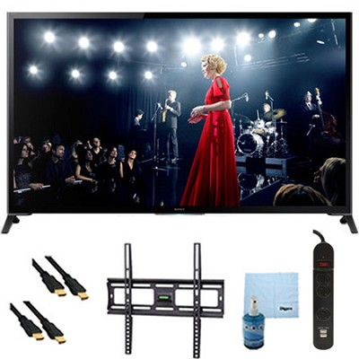 65` Flagship 4K UHD 3D Smart TV Motionflow 960 Mount & Hook-Up Bundle XBR65X950B