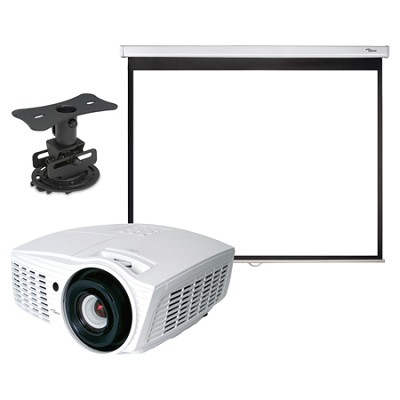 HD161X Full 3D 1080p 2000 Lumen DLP Home Theater Projector All Inclusive Bundle