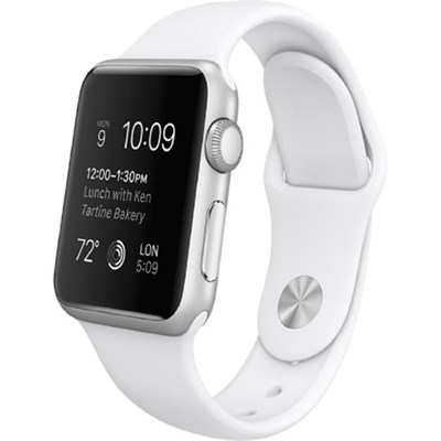 Watch Sport 42mm Silver Aluminum Case - White Sports Band, Refurbished
